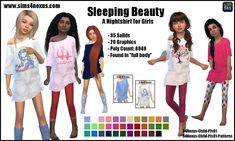 Lana CC Finds - Sleeping Beauty -A Nightshirt for Girls-
