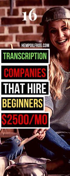 16 online transcription jobs from home. No experience needed. #transcription #transcriptionjobs #onlinetranscriptionjobs #workfromhome #workathome #sidehustles #earnmoneyonline