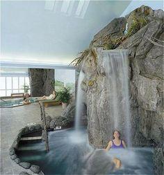 Indoor Waterfall at Stoweflake Mountain Resort & Spa | #staykindred