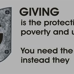 giving is protective shield for you