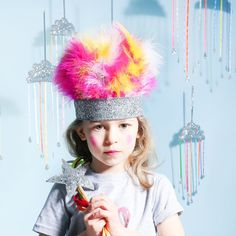 Soft Marabou feathers on a sparkly crown make this a show stopping number. We love to create these to your specifications so just add a note at checkout as to the colours that you would like. This comes packaged in it's own gift box, wrapped in tissue paper, and finished with lovely ribbons.