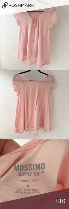 Pink Tie Back Top This top is gorgeous! Just too big for me! Bundle and save! 20% off 2+ Mossimo Supply Co. Tops Tees - Long Sleeve