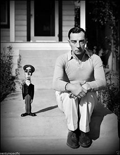 """Buster KEATON * OH * AFI Top 25 Actors. OSCAR HISTORY: Never actually won an acting Oscar, but in 1959 he received an Honorary Award statuette: """"To Buster Keaton for his unique talents which brought immortal comedies to the screen"""". The Comedian, Classic Hollywood, Old Hollywood, Jean Sorel, Buster Keaton, Physical Comedy, Easy Listening, Movie Photo, Silent Film"""