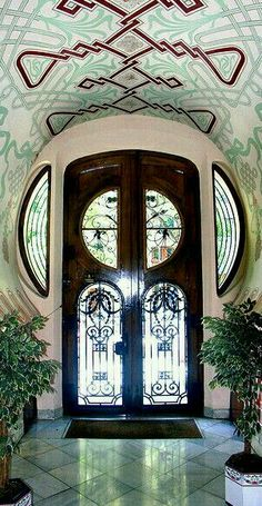 Art Nouveau door in Barcelona, Spain. - by Arnim Schulz
