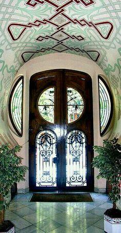 Art Nouveau door in Barcelona, Spain. - by Arnim Schulz