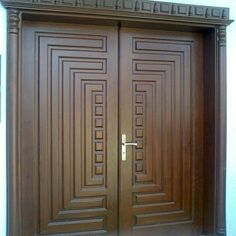 Ideas For Custom Entry Door Entryway Flush Door Design, Front Door Design Wood, Main Entrance Door Design, Double Door Design, Door Design Interior, Wooden Door Design, Wooden Double Doors, Wooden Front Doors, Custom Wood Doors