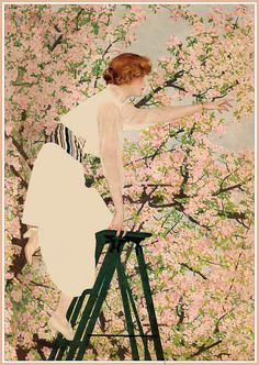 Coles Phillips - painting for Good Housekeeping Magazine cover (April 1915)