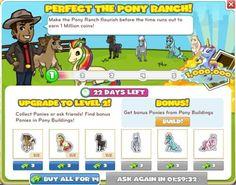 Pony Ranch Menu