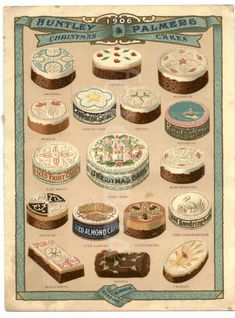 Christmas cakes Huntley & Palmers 1906.