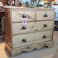 English Antique Pine Chest of Drawers c1890