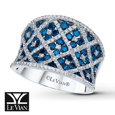 A girl can dream, right?    Blueberry Diamonds™ Ring 1 7/8 cttw Round-cut 14K Vanilla Gold™