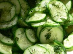 swedish cucumber salad - like the yummy pickle dish at Lucia's Julbord?
