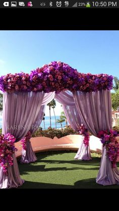 Tent of flowers
