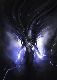 Lightning Matriarch by theDURRRRIAN. That's freaking gorgeous! God Of Lightning, Beast Creature, The Dark World, High Fantasy, Dark Ages, Fantasy Artwork, Dungeons And Dragons, Traditional Art, Concept Art
