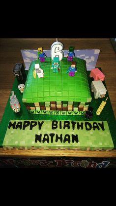 Minecraft cake