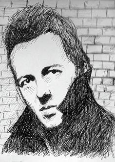 Joe Strummer The Clash by Enki Art Biro Drawing, Band Group, Joe Strummer, The Clash, Punk Art, Post Punk, Portrait Art, Punk Rock, Hard Rock