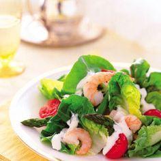 Bibb Lettuce with Shrimp, Asparagus, and Chive Aïoli