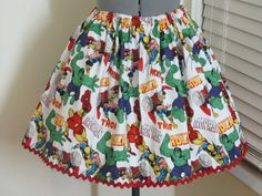 Sale  Marvel Comics Skirt by AquamarCouture on Etsy