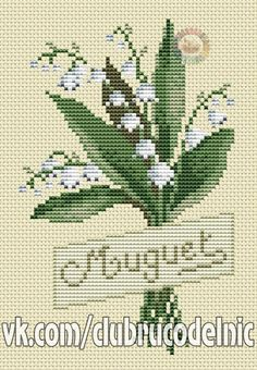VK is the largest European social network with more than 100 million active users. Counted Cross Stitch Patterns, Cross Stitch Charts, Bargello, Cross Stitch Flowers, Lily Of The Valley, Photo Wall, Sewing, Knitting, Wall Photos