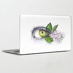 Apple of my eye laptop skins, by EDrawings38