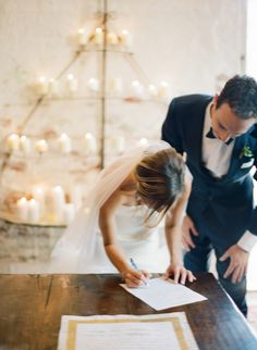 Seems obvious but don't forget to sign your marriage license: http://www.stylemepretty.com/2015/12/21/top-20-things-brides-forget-to-do-before-the-big-day/ Photography: Megan Wynn - http://www.meganwynn.com/