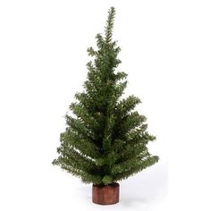 Bulk Buy: Darice Home for Holidays Minature Christmas Canadian Pine Tree w/ Base 49 Tips Green 8in. (3-Pack) DS-6257 ** You can find more details by visiting the image link.