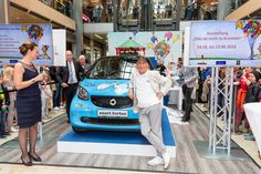 """Otto Waalkes bei der Aktion """"Otto ist nicht zu bremsen"""" bei uns in der #EuropaPassage #EuropaPassageHamburg #OttoWaalkes #smart"""