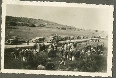 שיירת המכוניות והאנשים ביום בעליה על הקרקע של חניתה 2