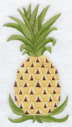 Machine Embroidery Designs at Embroidery Library! Hand Embroidery Flower Designs, Hand Embroidery Flowers, Machine Embroidery Designs, Embroidery Patterns, Pineapple Embroidery, Needlepoint Patterns, Handmade Decorations, Cross Stitch Embroidery, Sewing Crafts
