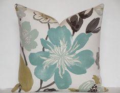 EURO SHAM  Decorative Pillow Cover  Aqua Teal by TeaOliveLiving, $49.95