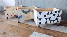 painted boxes great for all those toys! What a great idea!! This would be a…