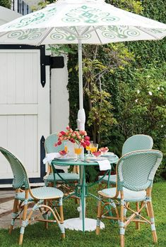Create the allure of a French café with our charming and comfortable Paris Bistro Collection. These colorful chairs derive their authentic look from strong bent rattan frame and a neatly handwoven, all-weather seat and back.
