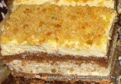 Hungarian Cake, Hungarian Recipes, Snickers Dessert, My Recipes, Dessert Recipes, Eastern European Recipes, Vanilla Cake, Nutella, Goodies