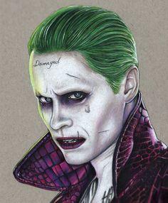 The Joker 2016 Jared Leto Suicide Squad by artofsupershinobi