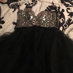 Selling this Black prom dress with rhinestones in my Poshmark closet! My username is: kbrune2016. #shopmycloset #poshmark #fashion #shopping #style #forsale #Sherri Hill #Dresses