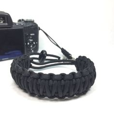 All Black DSLR Camera safety strap. Easy to wear, tangle free, super strong, and very light. Want one all red? All blue? Create your solid color strap out of 44 colors. www.stupidstraps.com #stupidstraps #straps #wriststrap #strap #camera #550 #strong #digtal #black #allblack #solidblack #blackonblack #solid #safetystrap #safety #custom #handmade #nikon #madetoorder #canon #sony #photographer #photography #photoshoot #photo #photooftheday #kingcobra #35mm