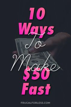 10 ways to make $50 fast. If you're short on cash or are in a little bit of debt, these methods will help you bring in some extra cash. All of these methods require little to no effort and don't take any up-front cost, so you won't have to worry about adding extra costs. Making $50 fast can really make a difference in the stress of your financial life. #makemoneyfast #freemoney #makemoneynow Make Money Now, Make Money Fast, Make Money Blogging, Make Money From Home, Money Tips, Make Money Online, Extra Cash, Extra Money, Single Mom Jobs