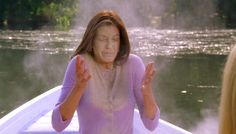 Love Letter To Desperate Housewives #4. Standout scene from DH, Susan and Edie going to scatter Mrs. Huber's remains on a lake, then getting in a fight and Edie dumps the ashes all over Susan's head.  By: Felicity Huffman