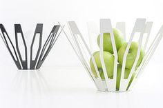 Deca fruitbowl laser-cut steel formed fruit bowl