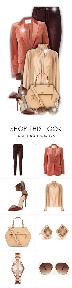 """Velvet!"" by asia-12 ❤ liked on Polyvore featuring Paige Denim, Frame, Christian Louboutin, Miss Selfridge, Tory Burch, Kendra Scott, Michael Kors, Ashley Stewart and Gucci"