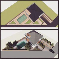 #arcitecture#villa#mimarlik#triangle#siteplan#pool#garden