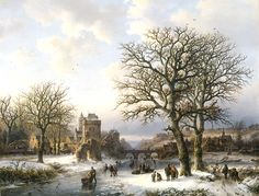 B.C. Koekkoek~ winterlandschap, 1857