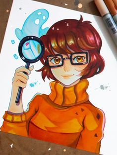 A small portrait of Velma from Scooby Doo : D did you grow up watching it? what is your fav horror series? : D If you like my work ,consider watching me. Join me for more adventures @ &n. Art Drawings Sketches, Disney Drawings, Cute Drawings, Arte Copic, Copic Art, Velma Do Scooby Doo, Scooby Doo Mystery Incorporated, Velma Dinkley, Digital Art Girl