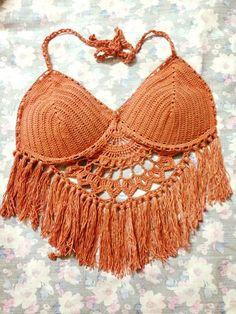 Áo Bikini móc len tua rua cách điệu Crochet Bikini Top, Knit Crochet, Crochet Chart, Crochet Baby, Hairpin Lace Crochet, One Piece Swimwear, Festival Outfits, Crochet Designs, Crochet Clothes