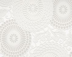 White textured wallpaper for 1 dining room wall.