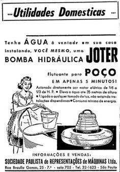 ANOS DOURADOS: IMAGENS & FATOS: IMAGENS - Anúncio: bomba d'água / revisão…