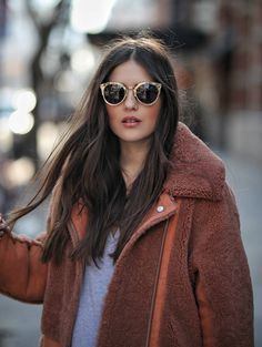 I love a good shearling jacket. They can be relatively inexpensive, they are super warm, come in so many colors and they are here to…