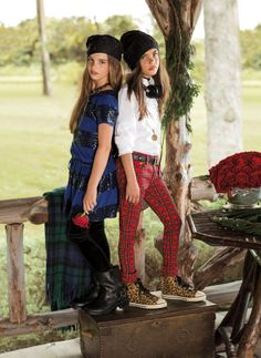 Classic prints like plaid from Ralph Lauren Kids lends perfectly to any girl's holiday wardrobe