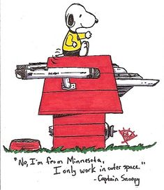 Captain Snoopy wearing the well deserved gold shirt. Star Trek Tv, Star Trek Ships, Star Wars, Comics Illustration, Illustrations, Spock, Vaisseau Star Trek, Akira, Star Trek Images