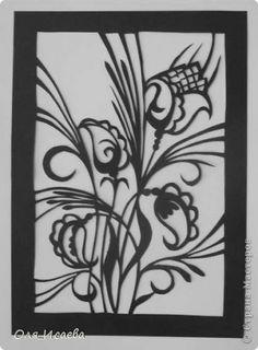 Картина панно рисунок Вырезание Цветы Бумага фото 1
